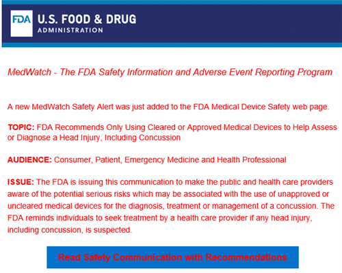 FDA Alert on Using Only Approved Medical Devices to Help